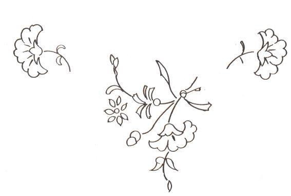 modele broderie fleurs gratuites