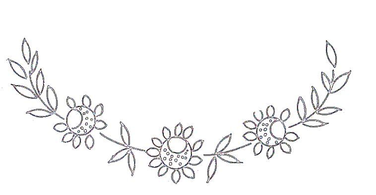 motifs broderie fleurs