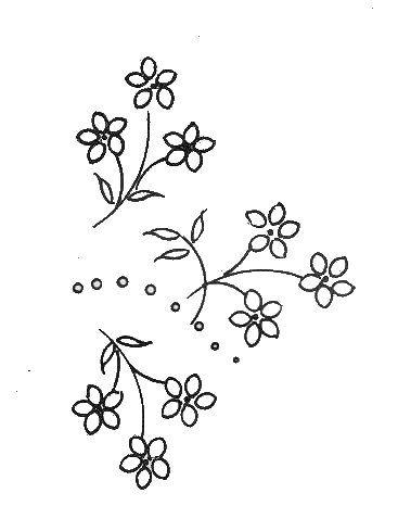 motifs fleurs a broder