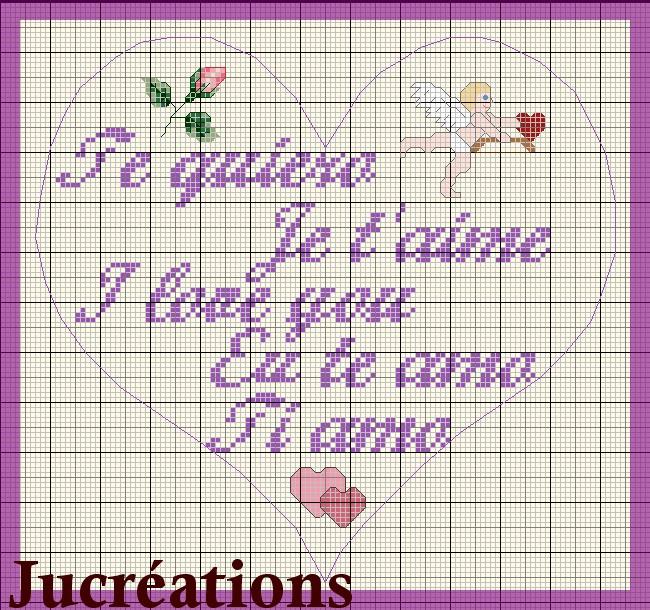 point de croix je t aime