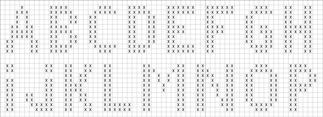 Point De Croix Lettres Majuscules Les Patrons De Broderie