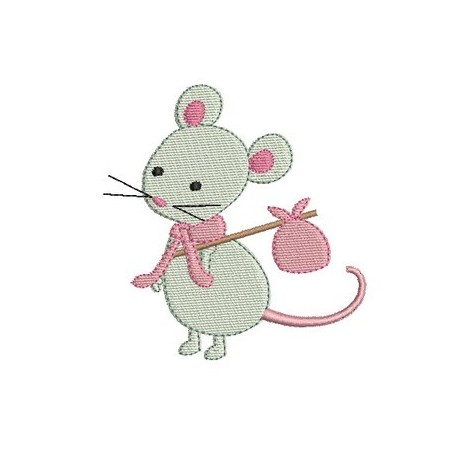 souris broderie