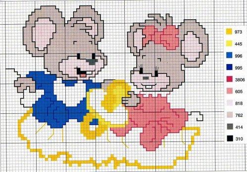 souris point de croix